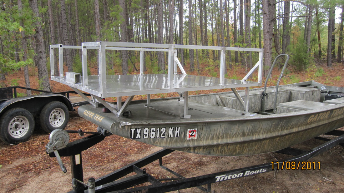 60 x 52 bowfishing deck for Bow fishing platform